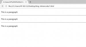 خط افقی در html