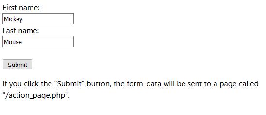 دکمه submit در فرم html
