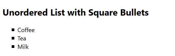 لیست مربعی